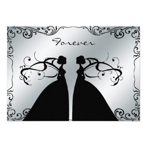 Elegant Lesbian Gay Wedding Invitation