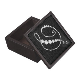 Elegant Letter D Sparkling Diamonds-Monogram Gift Box