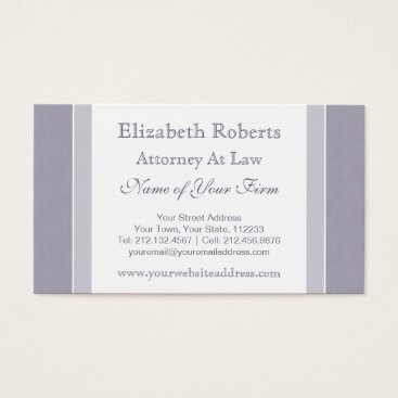 Lawyer Themed Elegant Light Blue and White Simple Professional Business Card