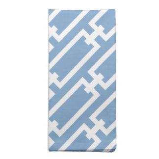 Elegant Light Blue Geometric Links Pattern Cloth Napkin