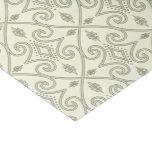 Elegant Light Blue Geometric Scroll Pattern Tissue Paper