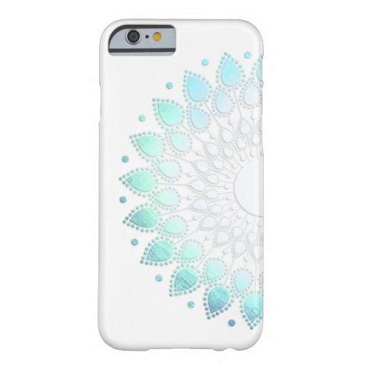 Elegant Light Blue Green Flower Motif iPhone 6 Case
