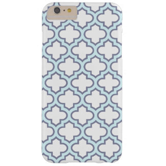Elegant Light Blue Moroccan Quatrefoil Pattern Barely There iPhone 6 Plus Case