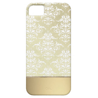 Elegant Light Gold-like Vintage Damask Pattern iPhone SE/5/5s Case