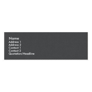 Elegant light grey octagonal pattern on rough grey mini business card