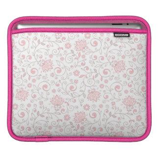 Elegant Light Pink Floral Pattern iPad Sleeve