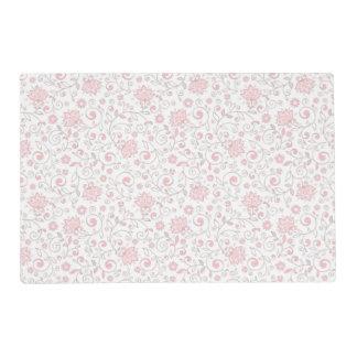 Elegant Light Pink Floral Pattern Placemat