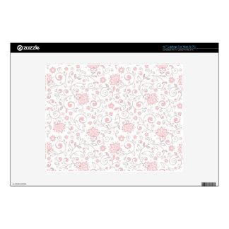"""Elegant Light Pink Floral Pattern Skin For 12"""" Laptop"""