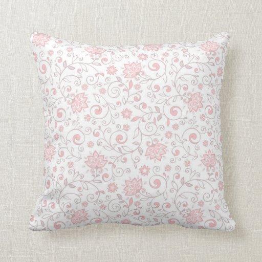 elegant light pink floral pattern throw pillow zazzle. Black Bedroom Furniture Sets. Home Design Ideas