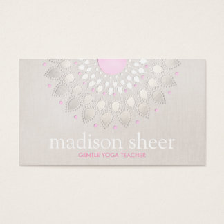 Elegant Light Pink Lotus Flower Business Card