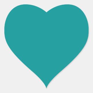 Elegant Light Teal - Fashion Color Trends Heart Sticker