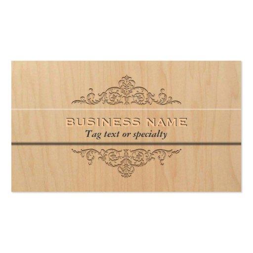 Elegant Light Wood Business Card Template