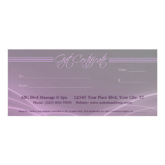 Elegant Lights Gift Certificate Rack Card Template