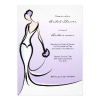 Elegant Lilac Bridal Shower Invitations