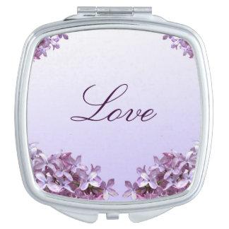 Elegant Lilac Compact Mirror