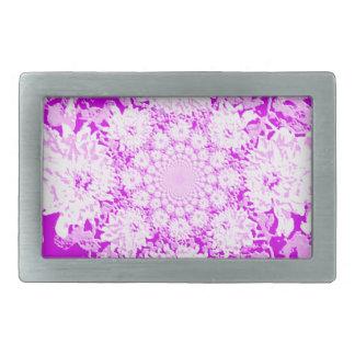 Elegant Lilac  Floral Dahlia Flower Pattern Belt Buckle