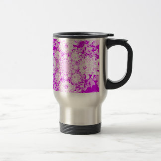 Elegant Lilac  Floral Dahlia Flower Pattern Travel Mug