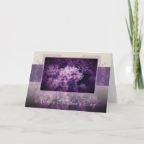 "Elegant Lilac Floral ""Mother's Day"" Card"