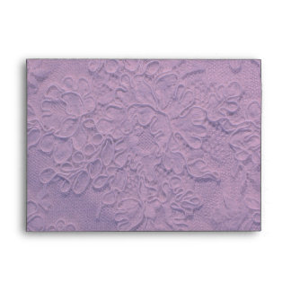 Elegant Lilac Lace Wedding Envelope
