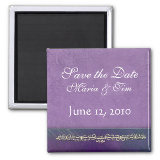 Elegant lilac save the date magnet