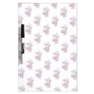 Elegant Lilacs Dry Erase Board