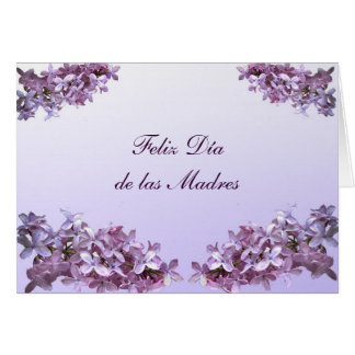 Elegant Lilacs Feliz Dia de las Madres Greeting Card