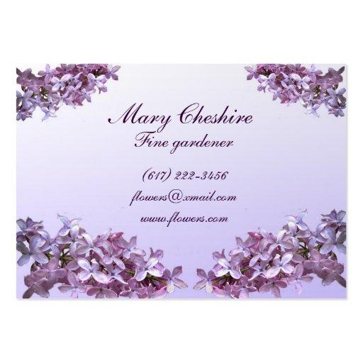 Elegant Lilacs Gardener Business Card Template