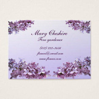 Elegant Lilacs Gardener Business Card