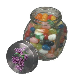Elegant Lilacs Glass Candy Jars