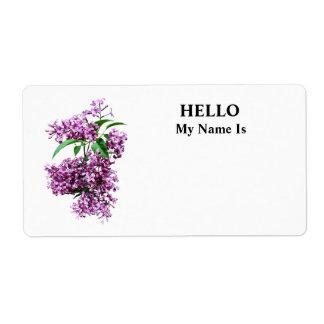 Elegant Lilacs Label