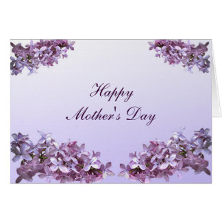 Elegant Lilacs Mothers Day Card