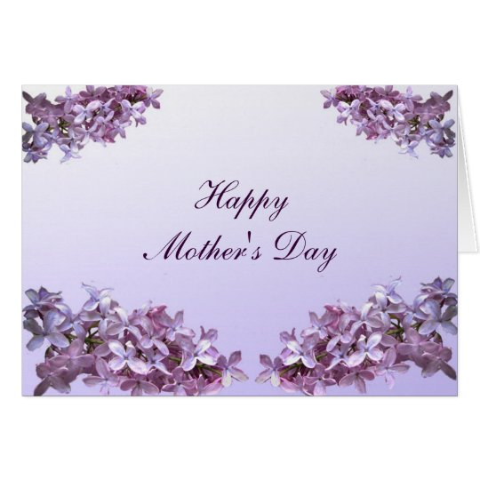 Elegant lilacs mothers day card zazzle for Classy mothers day cards