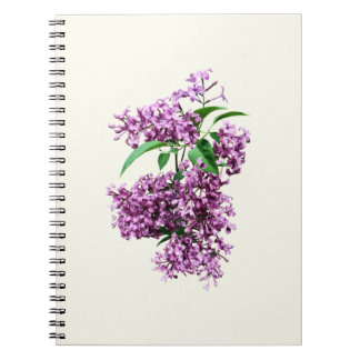 Elegant Lilacs Spiral Notebook