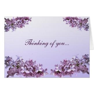 Elegant Lilacs Thinking of You