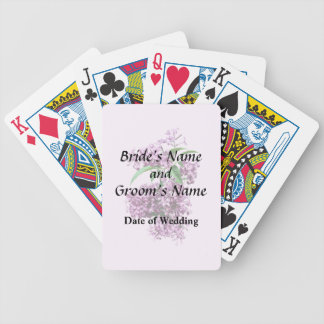 Elegant Lilacs Wedding Products Bicycle Playing Cards