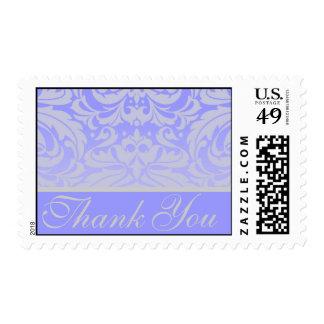 Elegant Liliac Damask Thank You Postage Stamp