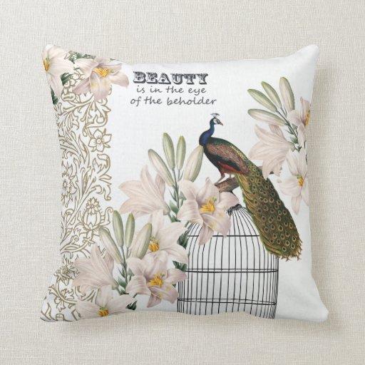 Elegant Lilies Peacock Pillows