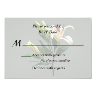 Elegant Lily and Buds Wedding Products Card