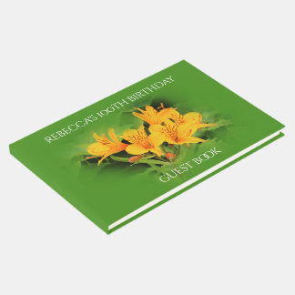 Elegant Lily of the Incas 100th Birthday Guest Book