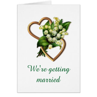 Elegant Lily of the Valley Customizeable Wedding Greeting Card