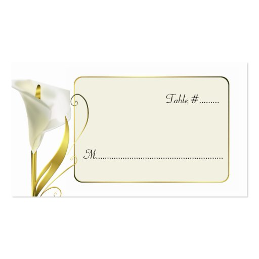 Elegant Lily Wedding Reception Place Cards Business Card Template