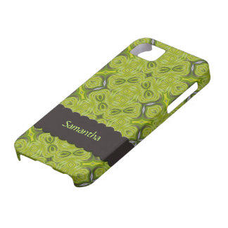 Elegant Lime Green Personalized Case-Mate iPhone 5 iPhone SE/5/5s Case