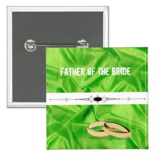 Elegant`Lime Green Silk Effect Wedding 2 Inch Square Button