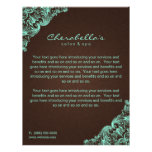 Elegant Linen Salon Spa Mint Brown Flyers