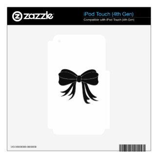 Elegant Little Black Bow iPod Touch 4G Skin