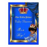 Elegant Little Prince Baby Shower Boy Blue Invites