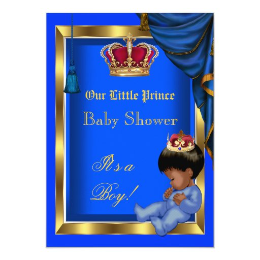 Personalized baby shower boy little prince invitations elegant little prince baby shower boy blue invites filmwisefo