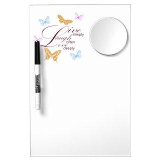 Elegant Live Laugh Love Dry Erase Board With Mirror