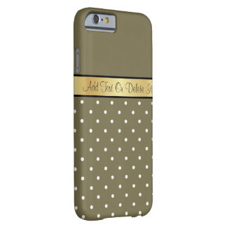 Elegant Loden Green & White Polka Dots Barely There iPhone 6 Case