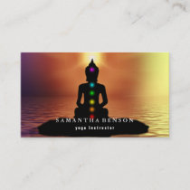Elegant Logo Yoga Instructor Business Card